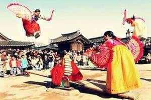 Tham quan làng dân tộc Seongup tại Jeju Hàn Quốc.