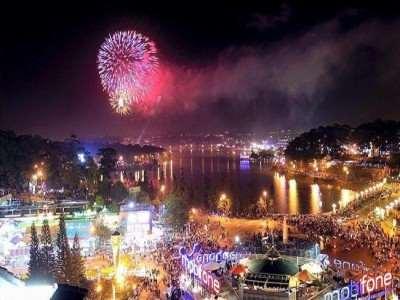 Lâm Đồng bắn pháo hoa mừng năm mới tại 5 điểm