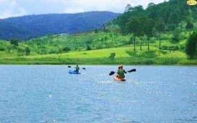 Chèo Thuyền Kayak tại Hồ Tuyền Lâm